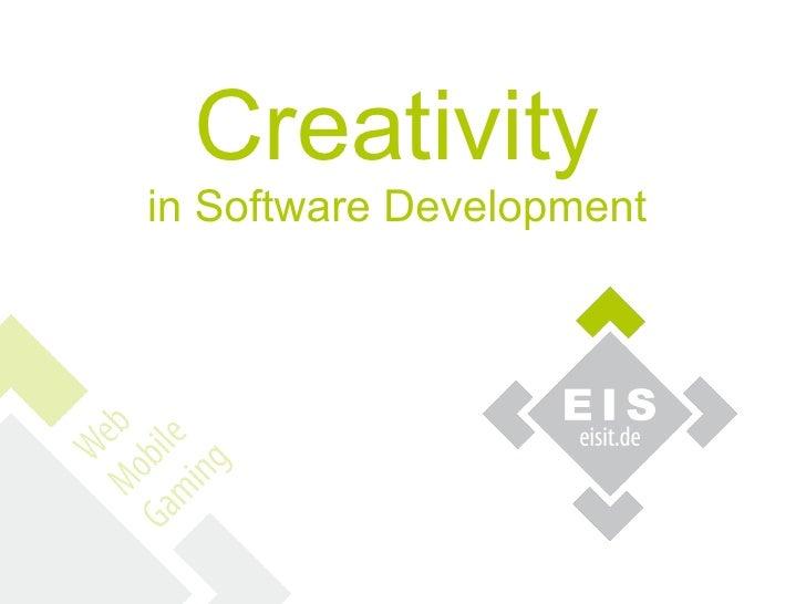 Creativityin Software Development