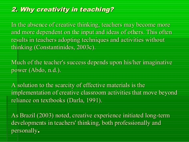 Creativity in tefl