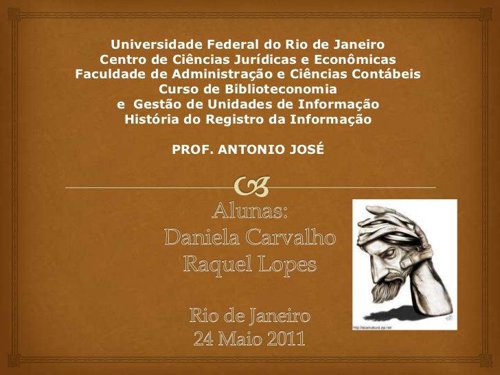 Universidade Federal do Rio de JaneiroCentro de Ciências Jurídicas e EconômicasFaculdade de Administração e Ciências Contá...