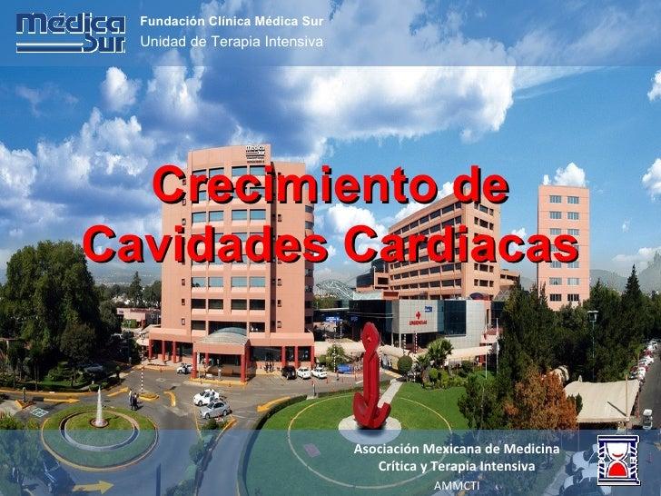 Crecimiento de Cavidades Cardiacas Fundación Clínica Médica Sur Unidad de Terapia Intensiva Asociación Mexicana de Medicin...