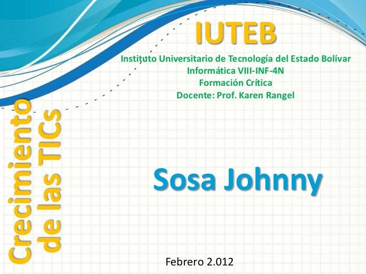 IUTEB               Instituto Universitario de Tecnología del Estado Bolívar                               Informática VII...