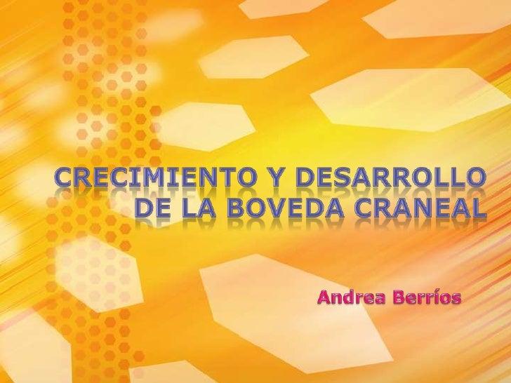 CRECIMIENTO Y DESARROLLO  DE LA BOVEDA CRANEAL<br />Andrea Berríos <br />