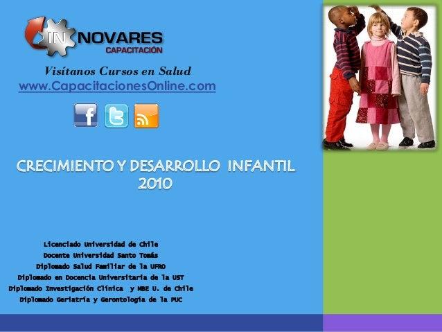 Visítanos Cursos en Salud  www.CapacitacionesOnline.com         Licenciado Universidad de Chile         Docente Universida...