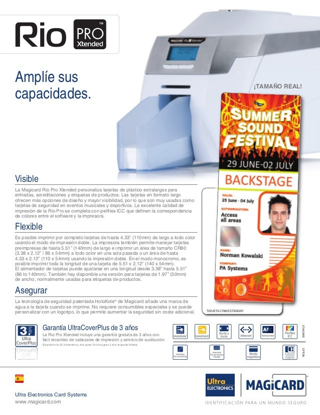 Rio Pro Xtended 2pp Brochure USA ESP:Xtended2ppUSA ESP ISS 2.00  26/4/12  14:28  Page 1  Amplíe sus capacidades.  ¡TAMAÑO ...
