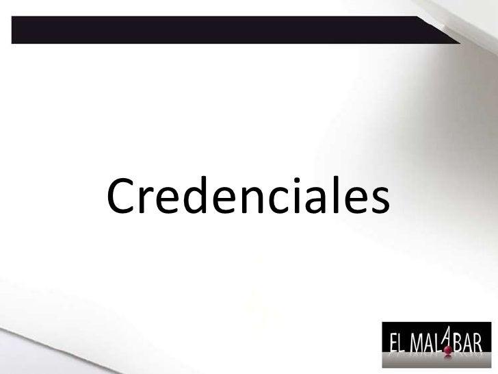 Credenciales <br />