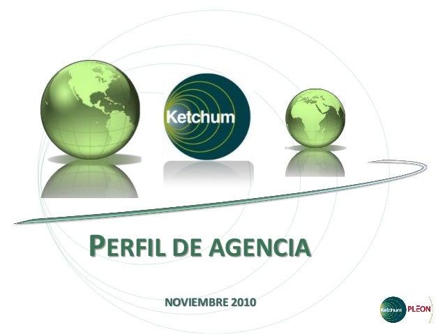 PERFIL DE AGENCIA NOVIEMBRE 2010