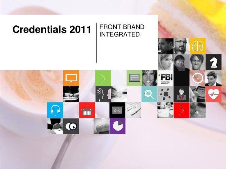 FRONT BRANDCredentials 2011   INTEGRATED