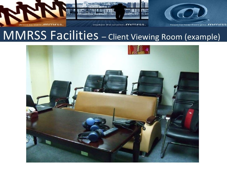 MMRSS Facilities Client Viewing Room Example