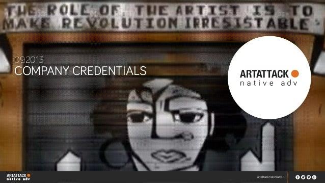 artattack.nativeadv.it COMPANY CREDENTIALS 09.2013 LOGO artattack.nativeadv.it