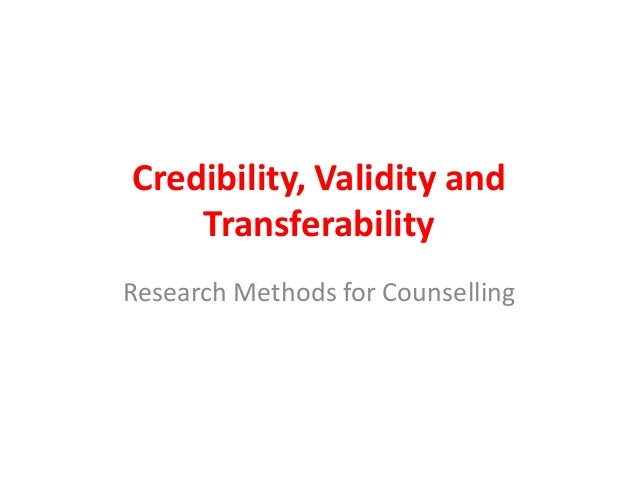 research methodology validity and reliability Chapter 71: variables, validity, and reliability all variables must be defined and the methods of conducting the research must be determined.