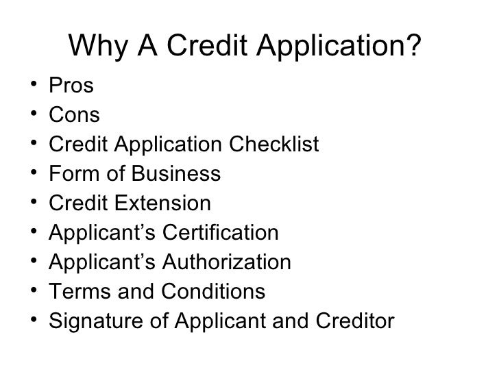 Credit Application Powerpoint
