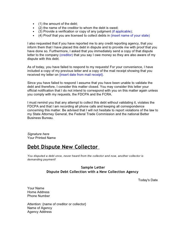 Credit and debt dispute letters letter i requested the following information 7 spiritdancerdesigns