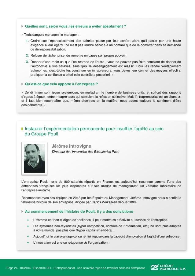Page 25 - 04/2014 - Expertise RH - L'Intrapreneuriat : une nouvelle façon de travailler dans les entreprises. De l'innovat...