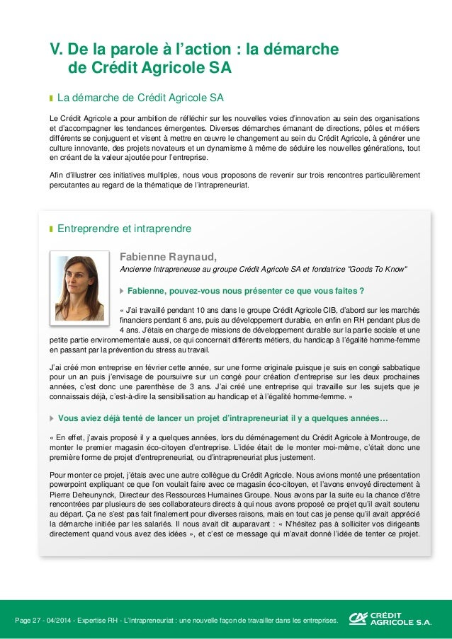 Page 28 - 04/2014 - Expertise RH - L'Intrapreneuriat : une nouvelle façon de travailler dans les entreprises. Je me suis d...