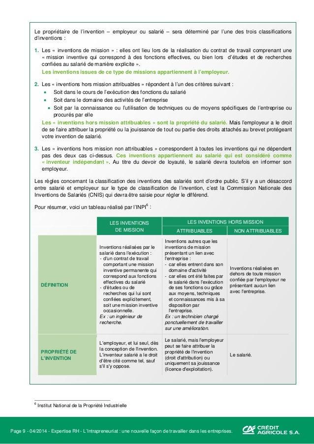 Page 10 - 04/2014 - Expertise RH - L'Intrapreneuriat : une nouvelle façon de travailler dans les entreprises. Fertilisatio...