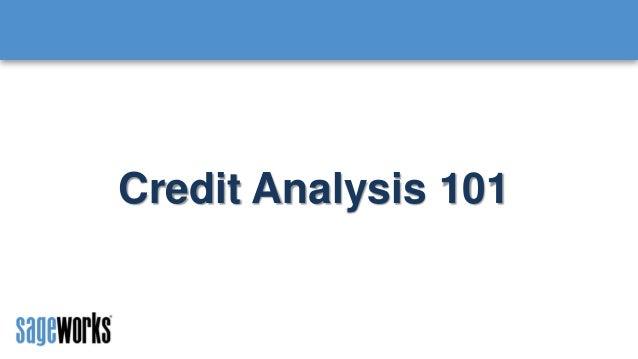Credit Analysis 101