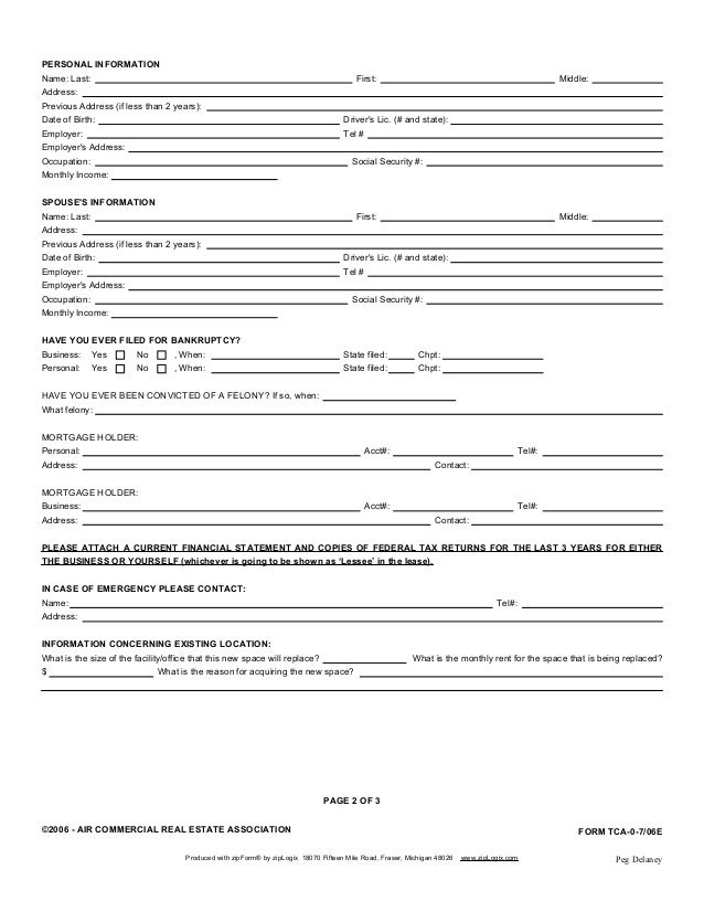 2 PERSONAL INFORMATIONPAGE OF 3C2006