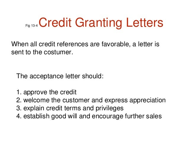remain confidential 13 fig 13 4 credit granting letters