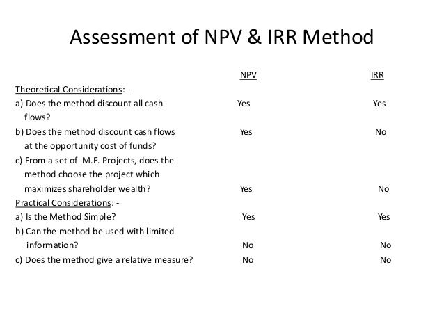 npv vs irr Npv vs irr - download as pdf file (pdf), text file (txt) or read online uiiy.