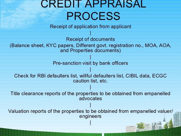 credit appraisal of united bank It transferred thrift regulatory authority from the federal home loan bank board to the  and community credit in the united  appraisal subcommittee (asc.