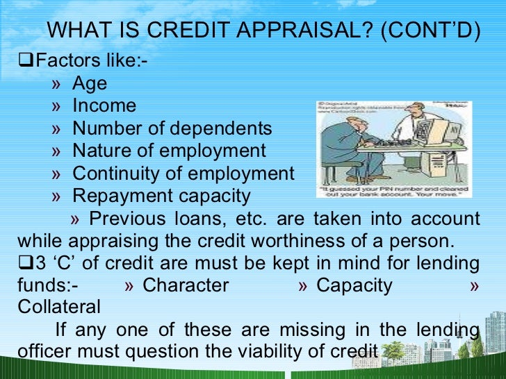 credit appraisal Apply to 5833 credit appraisal jobs on naukricom, india's no1 job portal explore credit appraisal openings in your desired locations now.