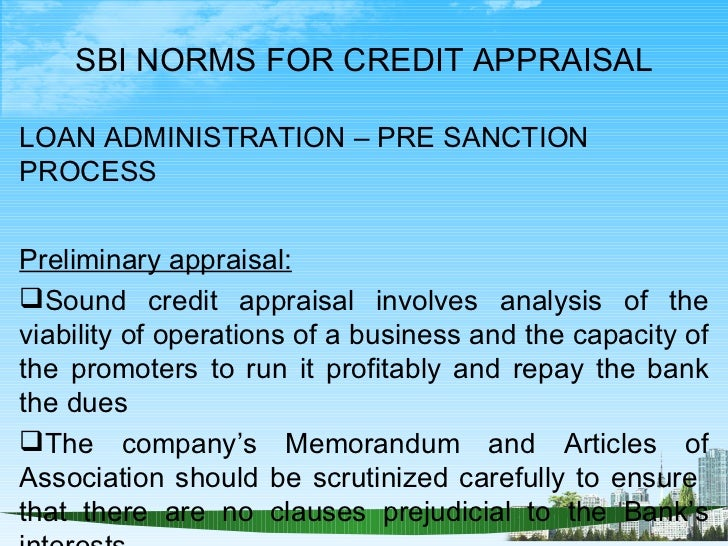credit appraisal Essays - largest database of quality sample essays and research papers on credit appraisal methods.