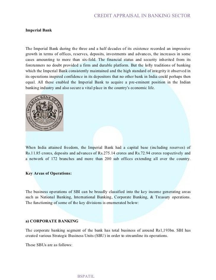 credit appraisal process of sbi