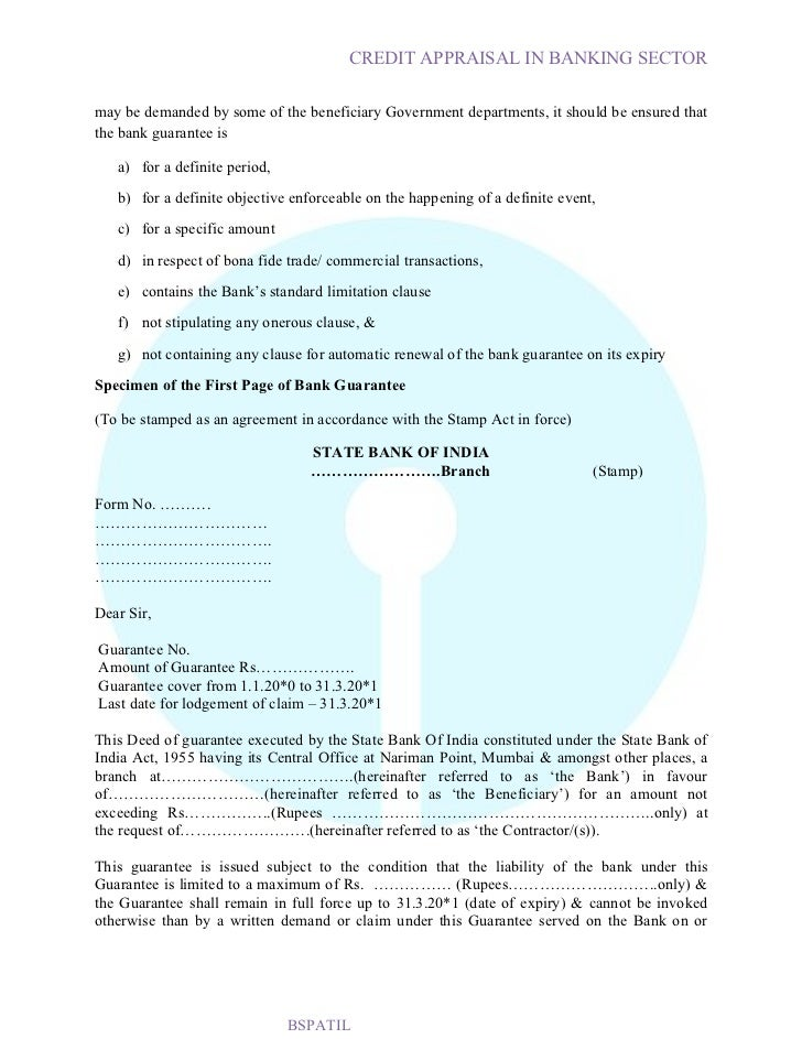 Credit appraisal in sbi bank project6 report on personal letter format request, signature guarantee letter request, memo request,