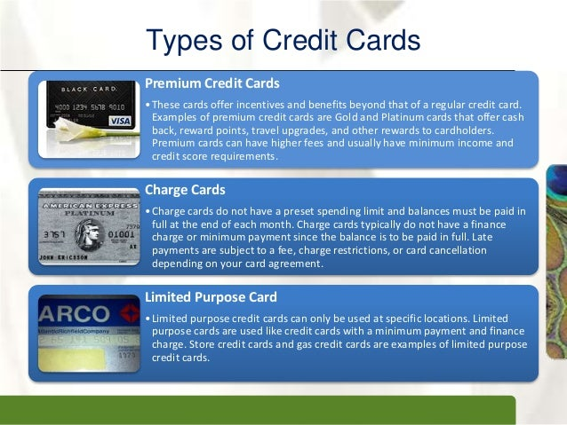 11 xpxpxptypes of credit cards - Visa Charge Card