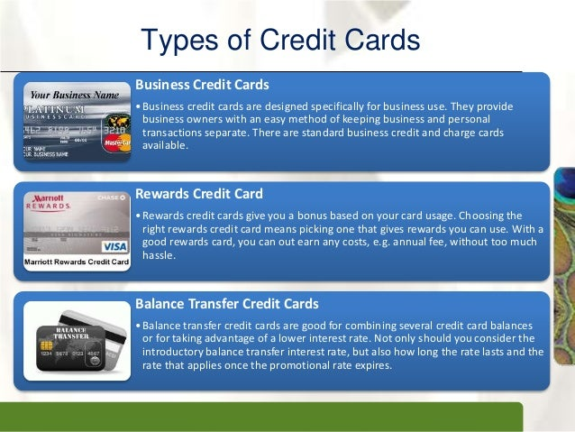 Credit card 13 xpxpxptypes of credit cards business reheart Images