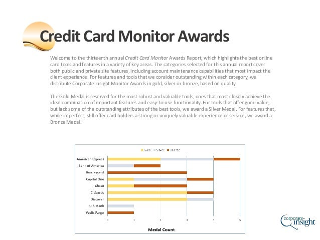 Welcome to the thirteenth annual Credit Card Monitor Awards Report, which highlights the best online card tools and featur...
