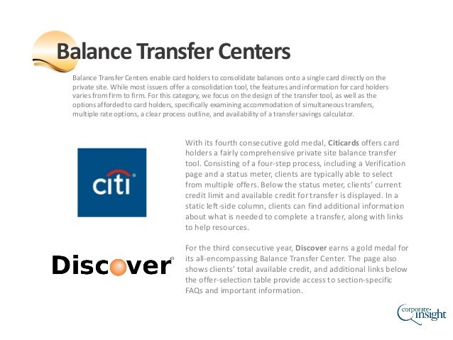Balance Transfer Centers enable card holders to consolidate balances onto a single card directly on the private site. Whil...