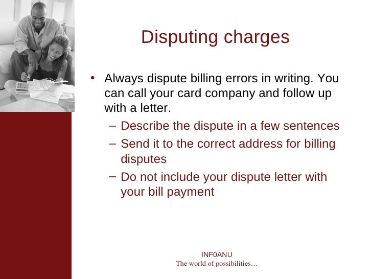 reasons to dispute credit card charge