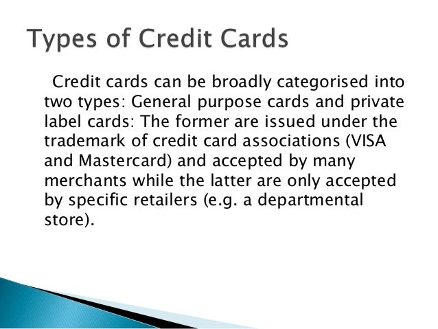 Credit card its operations