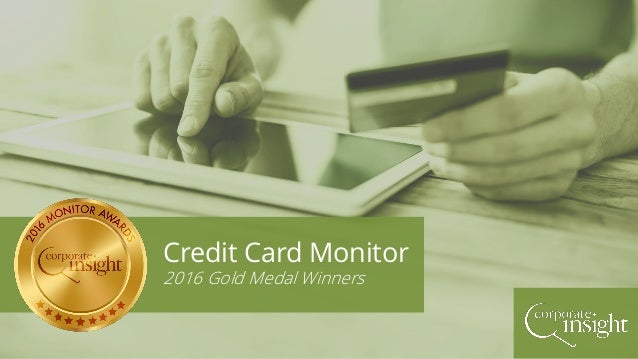 Credit Card Monitor 2016 Gold Medal Winners