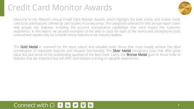 2016 Monitor Awards Gold Winners: Credit Cards Slide 3