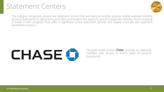 Statement Centers 7 This category recognizes private site statement centers that are easily accessible, provide readily av...