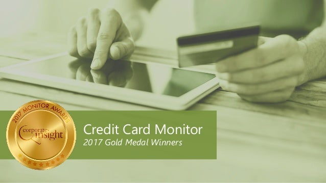 Credit Card Monitor 2017 Gold Medal Winners