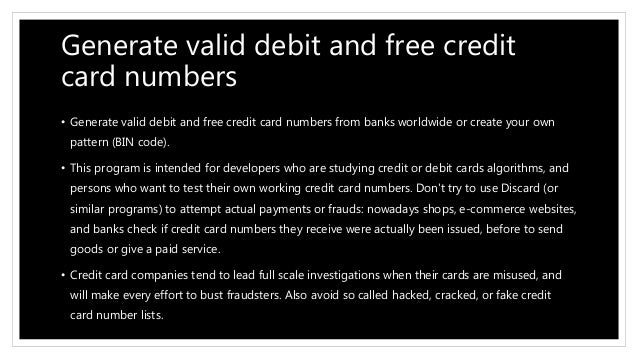 Credit card number credit card number generate a credit card number 2 reheart Choice Image