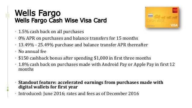 Credit Card Product Update - 2016 Year in Review