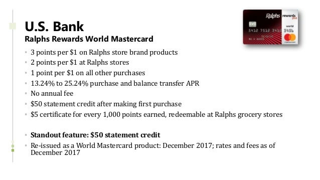 Credit Card Product Update - 2017 Year in Review