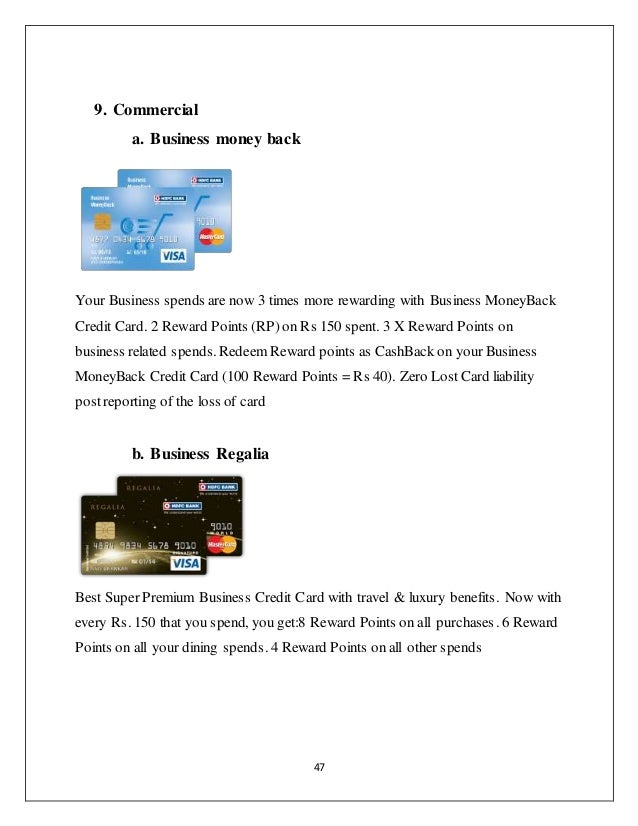Credit card special preference to hdfc bank card 47 47 9 commercial a business money back colourmoves