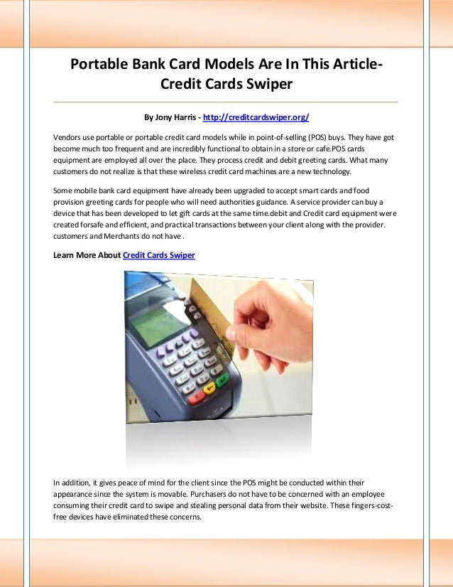 Credit cards swiper portable bank card models are in this article credit cards swiper m4hsunfo