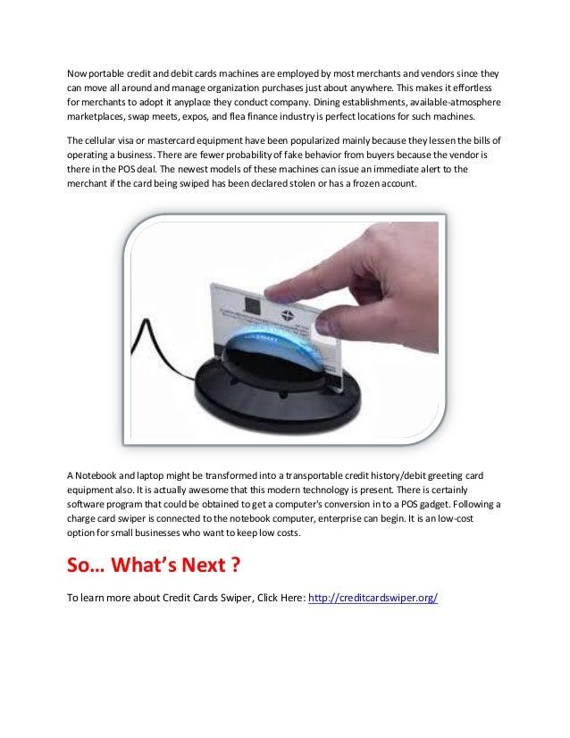Credit cards swiper