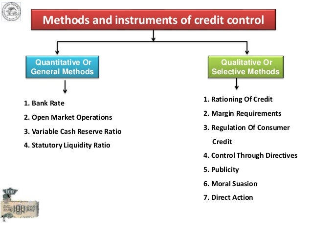 main instrument of credit control policy investment