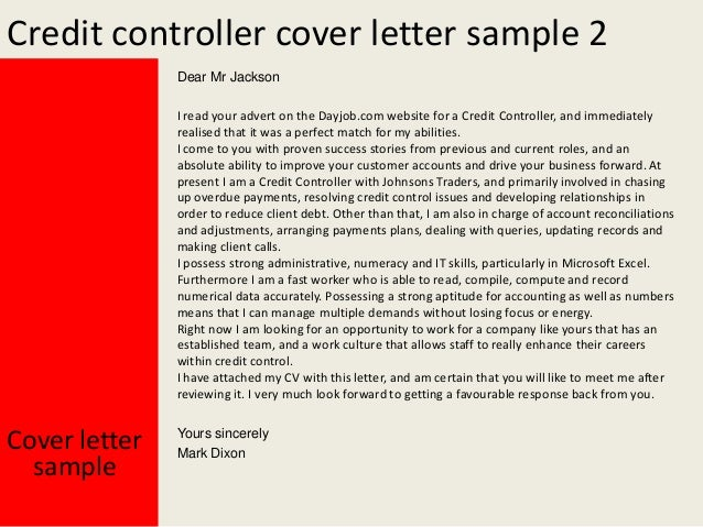Wonderful Credit Control Letter