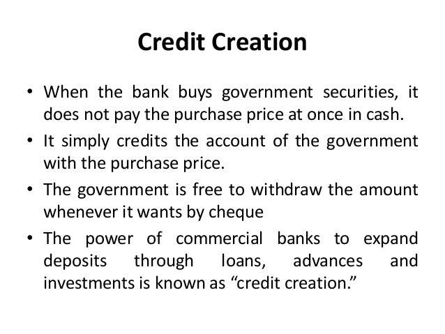 limitations of credit creation