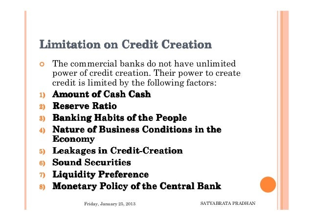 what is credit creation by banks