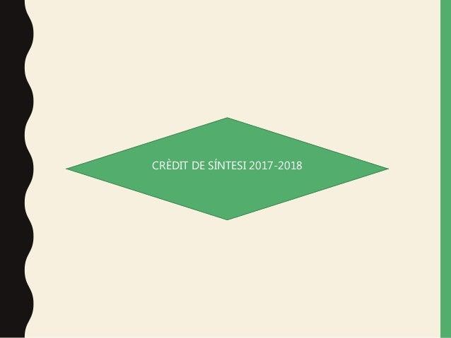 CR�DIT DE S�NTESI 2017-2018