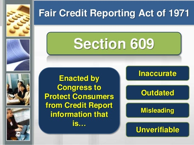 Image Result For Fcra Section  Verifiable Proof